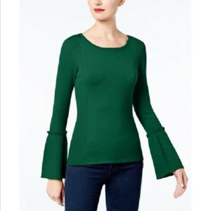 INC Womens Plus Size Sweater - Ribbed Bell Sleeve